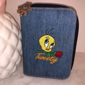Handbags - Tweety Bird wallet in denim like new too cute! 😎